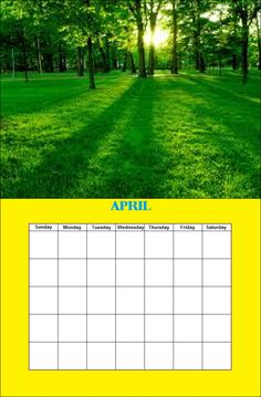 April Season Calendar, Monday Tuesday Wednesday, Paint Shop, Seasons, Outdoor Decor, Seasons Of The Year
