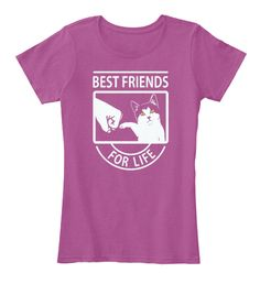 Cat's Best Friends For Life Trending Cat Heathered Pink Raspberry T-Shirt Nữ Front