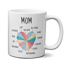 Mom Coffee Mug, Funny Mom Gift - 11 OZ, Unique Birthday Gift for Mom, Mothers Day Gift from Daughter or from Son - Gifts For Moms Unique Gifts For Mom, Unique Birthday Gifts, Birthday Gifts For Women, Birthday Gifts For Her, Gifts For Dad, Funny Mothers Day Gifts, Mothers Day Gifts From Daughter, Mother Day Gifts, Just Because Gifts