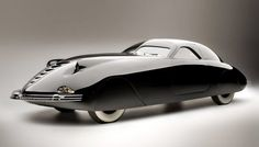 1938 Phantom Corsair, prototype designed by Rust Heinz. While planned to go into limited production, Heinz's death in a car accident in July 1939 ended those plans. This prototype was the only one ever built.