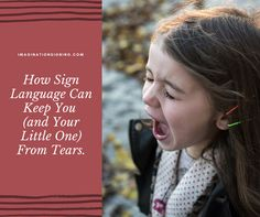 """Standing in the store with a screaming, hungry, fussy baby is no fun.Now add a screaming, fussy, """"pay attention to me!"""" toddler to the mix. Sign Language Basics, Sign Language Phrases, Baby Sign Language, Pay Attention To Me, Stress, Ads, Website, Signs, Shop Signs"""