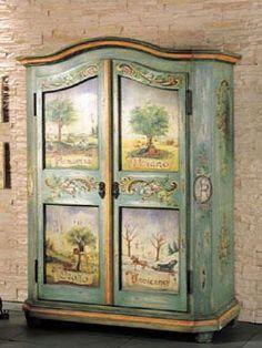 Художественная роспись мебели. Нанесение золота на мебель и двери!