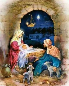 Count down the days until Christmas day with this lovely Manger advent calendar! Christmas Nativity Scene, Christmas Scenes, Christmas Love, Christmas Pictures, Christmas Holidays, Christmas Decorations, Nativity Scenes, Nativity Scene Pictures, Christmas Jesus