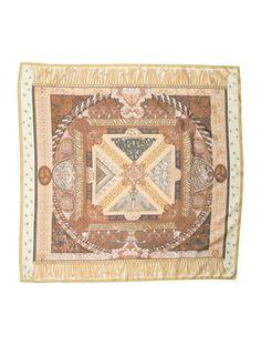 (Own) Hermes Sur Un Tapis Volant Silk Scarf