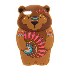 <P>Give your iPhone 5 or 5s a bear hug with this adorable cover. A surprised brown polar bear with flowery blue accents creates appealing style.</P> - <UL> - <LI>Fits iPhone 5, 5s - <LI>Materials: Silicone</LI></UL>