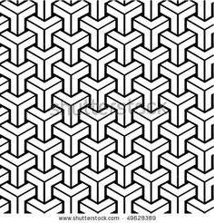 Seamless Geometric Black And White Pattern. To See Similar Patterns, Please Visit My Gallery :) Stock Vector - Illustration 49628389: Shutterstock