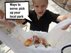 Ways to serve pick up your local park