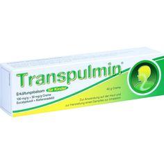 TRANSPULMIN Erkältungsbalsam für Kinder:   Packungsinhalt: 40 g Creme PZN: 00679374 Hersteller: MEDA Pharma GmbH & Co.KG Preis: 4,14 EUR…