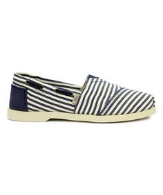 Another great find on #zulily! Navy Stripe Skiff Slip-On - Women #zulilyfinds