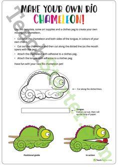 Rio Chameleon – Template Teaching Resource