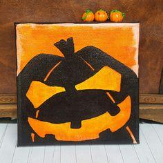 Halloweendeko Jack O'Lantern auf Leinwand