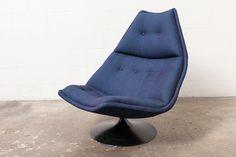 Geoffrey Harcourt For Artifort F584 Swivel Lounge Chair
