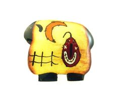 Halloween or Fall Primitive Sheep  Pin or by buttonsbyrobin3, $9.99