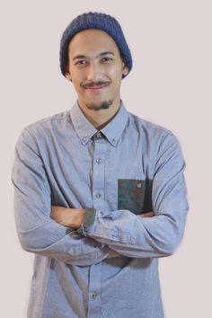 Dark Blue Folded up or down hat men crochet Men's Men's fashion, Men's hat