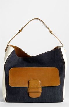 MARC JACOBS Denim & Leather Hobo available at #Nordstrom