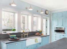 farmhouse style kitchen traditional with light blue wall handle kitchen faucets