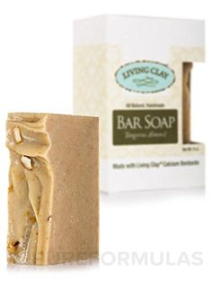 Tangerine Almond Calcium Bentonite Clay Soap 1 Bar Living Clay Exfoliant Skin Care Soap For Oily Skin Herbal Face Body Soaps * Find out more about the great product at the image link. (This is an affiliate link) Soap For Oily Skin, Cleanser For Oily Skin, Face Cleanser, Sea Salt Cleanse, Calcium Bentonite Clay, Natural Makeup Remover, Facial Bar, Almond Bars, Clay Face Mask