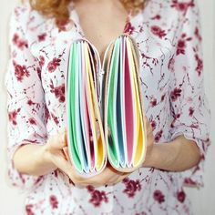 Beautiful handcrafted rainbow leather journals!!! 🌈 What would you write in them?