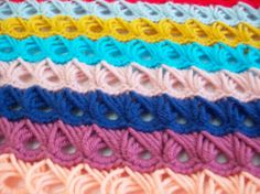 crocheted broomstick lace stitch