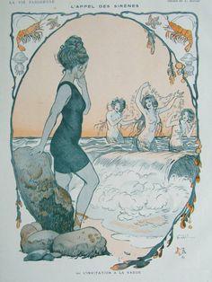 L'appel des Sirenes, by Burrel La Vie Parisienne