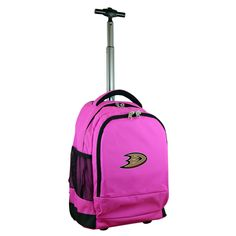 NHL Mojo Anaheim Ducks Wheeled Backpack - Pink