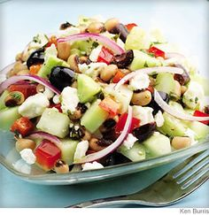 Cucumber & Black-Eyed Pea Salad - Cool, easy & yum! http://on.webmd.com/MdwJbW