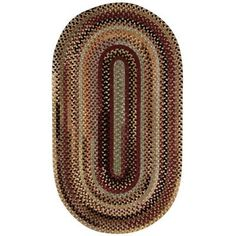 Capel Eaton Burgundy Outdoor Area Rug Rug Size: Concentric 2' x 3'