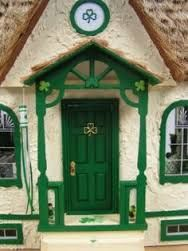 cottage door - Ireland Just love this. I could so live here--maybe David will build me an Irish cottage tree house on the land:) Cottage Door, Cozy Cottage, Cottage Windows, Porches, Irish Cottage, Irish Blessing, Unique Doors, Door Knockers, Closed Doors