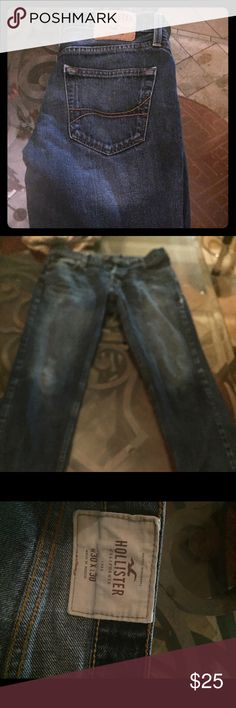 Men's  Hollister Skinny jeans Guys Hollister button fly skinny jeans like new ...didn't fit my son. Size 30x30 Hollister Jeans Skinny