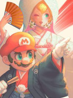 Mario and Princess Peach New Super Mario Bros, Super Mario Art, Super Mario World, Super Mario Brothers, Super Smash Bros, Fan Art Mario, Mario Bros., Mario Party, Mario And Luigi