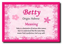 betty meaning - Google Search
