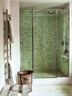 tile trends green tile on walls and floor