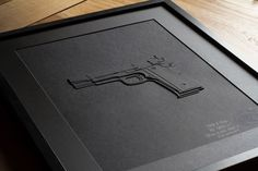 Papergun - Black / 40x50 cm / Papercutting #papercutting #art #handmade #street #graffiti #type #paper #neur_one