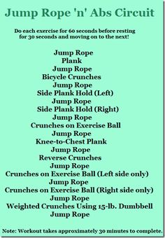 Jump Rope/abs workout