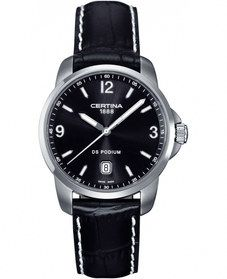 Certina Quartz Black Dial Stainless Steel Case With Black Leather Strap Watch #C001.410.16.057.01 (Men Watch) . Please Visit us at the following URL: http://www.bodying.com/certina-quartz-black-dial-c001-410-16-057-01/watches/63624
