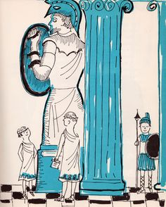 my vintage book collection (in blog form).: A Book to Begin on Museums - illustrated by Leonard Kessler