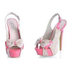 Every Girls Must Have...PINK HEELS! Wish I had something to wear these with. Jessica