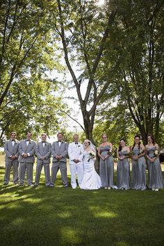 Bridal party at Katke Golf Course.   Photos courtesy of Jessica Frederick Photography