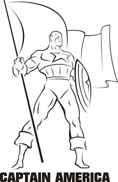 captain america coloring pages free - Google Search