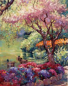Julie Gilbert Pollard, Oil #tree #landscape #art