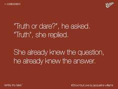 I bet he must've thot to ask me abt whom I luv . bt I told him . dont ask a question which one's answer u already know . n den he ended up asking me Hav u evr lied 2 ur mom? Story Quotes, Me Quotes, Qoutes, Romantic Quotes, Romantic Short Stories, Romantic Moments, Tiny Stories, Unspoken Words, Tiny Tales