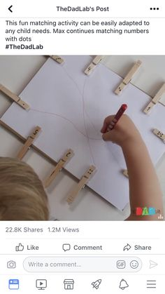 Check out this easy, fun Pre-Writing Activity for kids. Build Fine Motor Skills and coordination. Kids Learning Activities, Home Learning, Toddler Learning, Kindergarten Activities, Writing Activities, Classroom Activities, Preschool Activities, Dementia Activities, Physical Activities