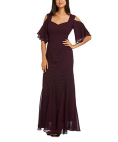 Love this Eggplant Cutout Sweetheart Gown - Plus on #zulily! #zulilyfinds