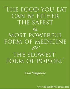 The food you eat can either be your medicine or your poison - you choose! http://inshapemd.com/locations/marietta-ga/