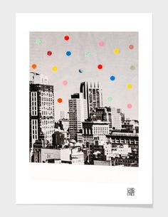 """""""Citydots"""", Numbered Edition Fine Art Print by laura redburn - From $25.00 - Curioos"""