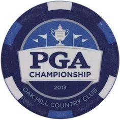 2013 PGA Championship Golf Ball Poker Style Marker Oak Hill Country Club 2 Sided