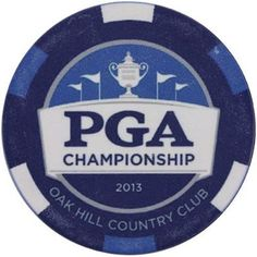 2013 PGA Championship Golf Ball Poker Style Marker Oak Hill Country Club 2 Sided