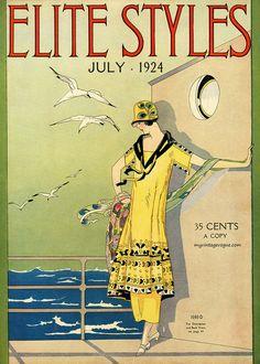 Vintage Summer Fashion. Elite Styles July 1924