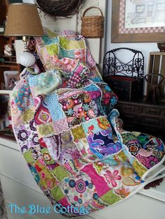 Hey, I found this really awesome Etsy listing at https://www.etsy.com/listing/217610142/brightly-colored-rag-quilt