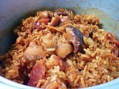 "零油烟之完全电饭锅""砂煲""鸡饭加青菜(附步骤图)Rice Cooker ""Claypot"" Chicken Rice and Vegetables (Step-by-Step Photos) | recipe in English and Chinese."